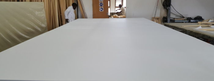 (Very) Large Stretched Canvas using Aluminium Support Structure