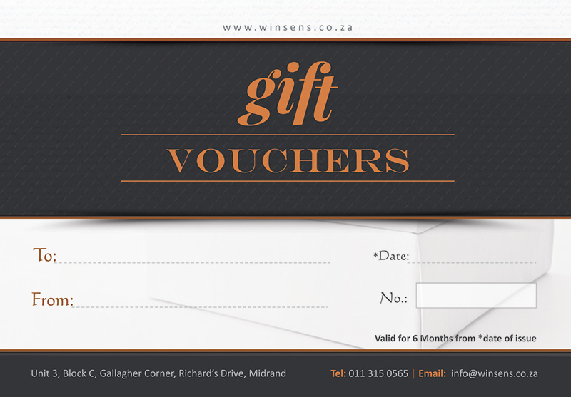 Gift Vouchers available from Winsen's Canvases