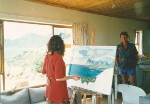 Artist Donna White with Burt Van Winsen